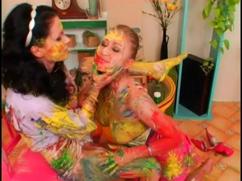A Very Intense Finger Painting Session – Valery Hilton, Sandra Sanchez. 26.06.20. AllWam.net (193 Mb)