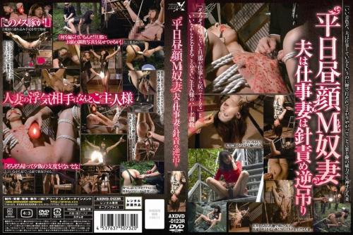 [AXDVD-0123R] 平日昼顔M奴妻 夫は仕事妻は針責め逆吊り レンタル版 放尿 SM スカトロ Bondage Arena Entertainment