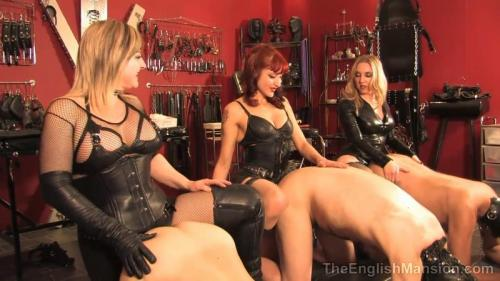 Squeal Piggy Squeal – Domina V, Lady Nina Birch And Mistress Sidonia. TheEnglishMansion.com (222 Mb)