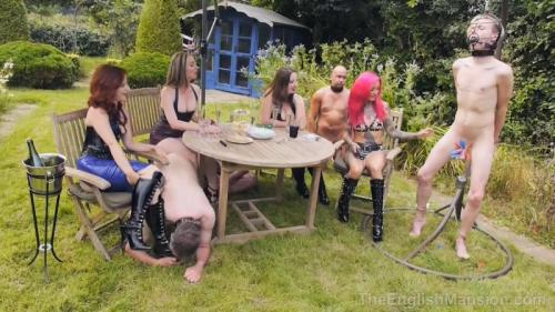 The Mansion's Summer Garden Party Part1 – Miss Annalisa, Mistress Evilyne, Mistress Lola Ruin And Mistress Sidonia. TheEnglishMansion.com (410 Mb)
