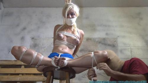 Sidnay Adams – He Binds, Manhandles, and Torments his Blonde Blue Eyed Captive. Futilestruggles.com (961 Mb)