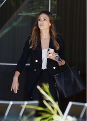 Jessica Alba - Leaving a meeting in LA 10/31/18