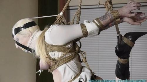 Olivia Panty Gagged Breast Bound and Bound in a 1 Leg Strappado. Futilestruggles.com (1021 Mb)