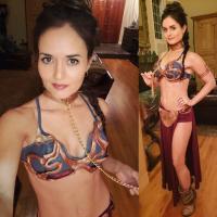 Danica McKellar - Slave Leia Costume